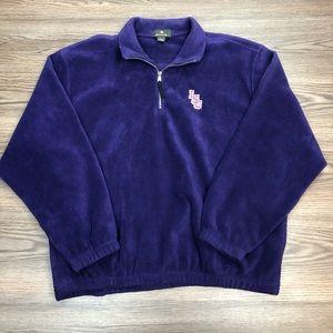 Antigua Purple LSU Tigers Fleece Pullover XL